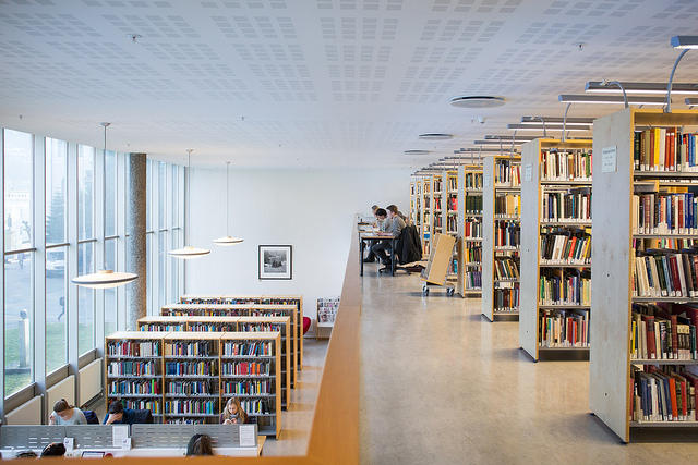 A library with gallery
