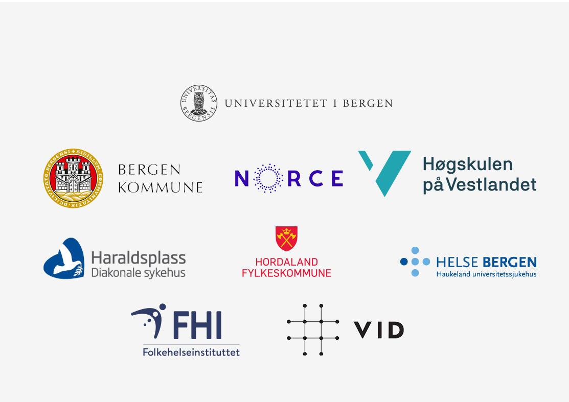 Logoene til samarbeidsparnterne i helseklyngen.