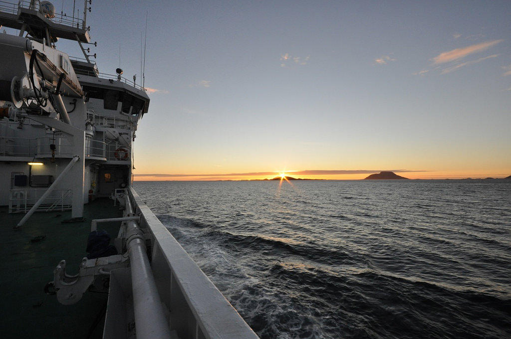 On research cruise to the Nordic seas, august 2016. Photo: Emil Jeansson