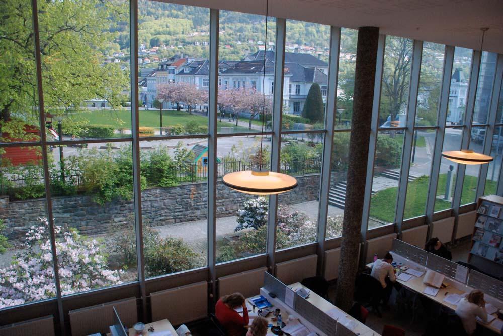 Utsikt fra HF-biblioteket