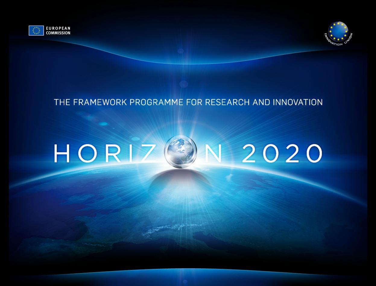 Logo of Horizon 2020, the new EU research funding programme