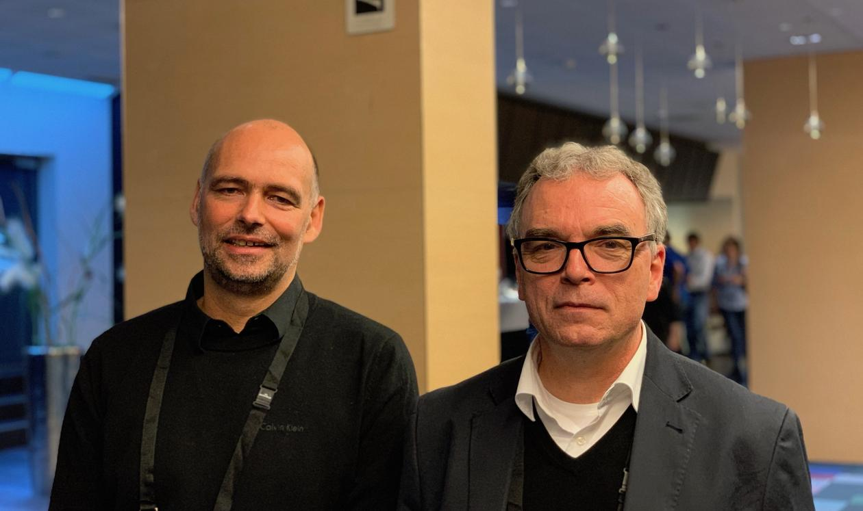Christoph Heinze (UiB og Bjerknessenteret) og Thorsten Blenckner (Stockholm Resilience Centre)  ønsket over 80 forskere velkommen til Bergen i dag, når COMFORT prosjektet setter I gang. Heinze (til venstre) og Blenckner leder et forskerteam som skal under