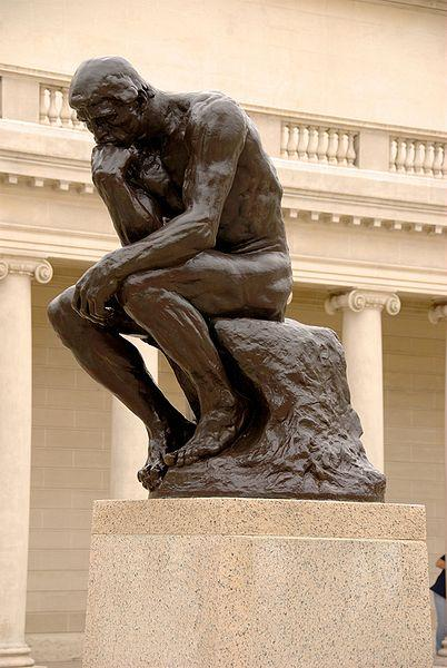 Photo of Auguste Rodin's sculpture The Thinker