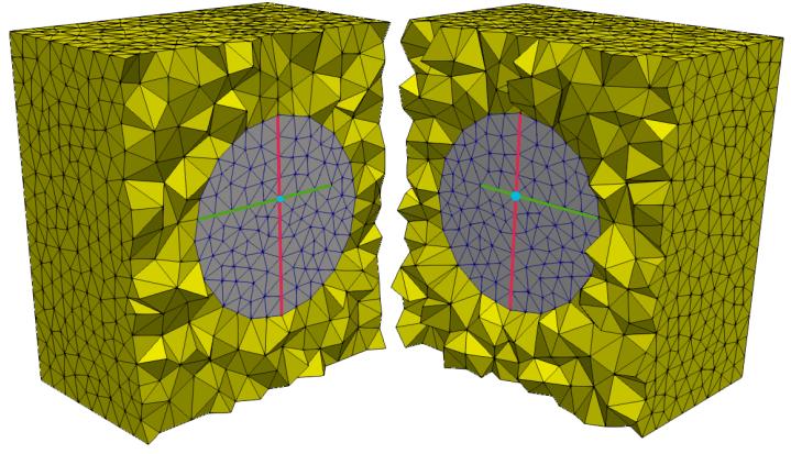 3D mesh for fractured porous medium