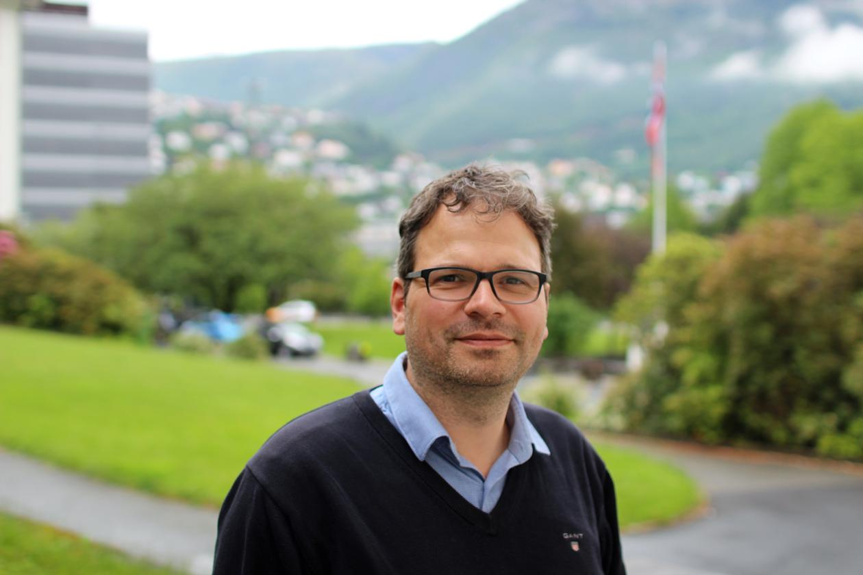 Data manager Benjamin Pfeil from the University of Bergen and the Bjerknes Centre for Climate Research photographed in Bergen in summer 2019.