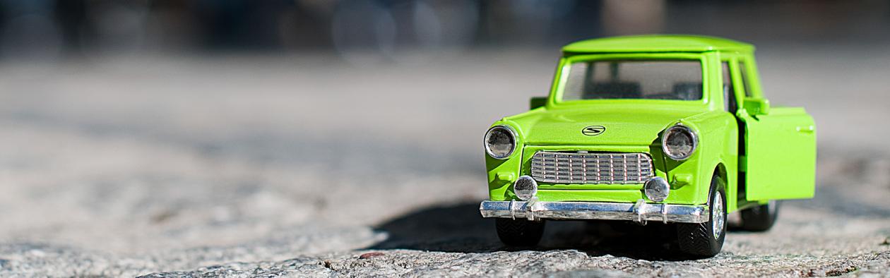 Modell av bilen Trabant