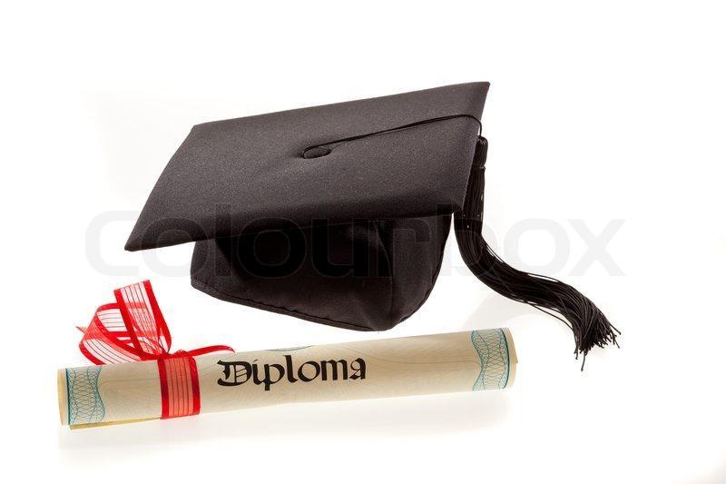 Bilde av en akademisk hatt med dusk og et diplom