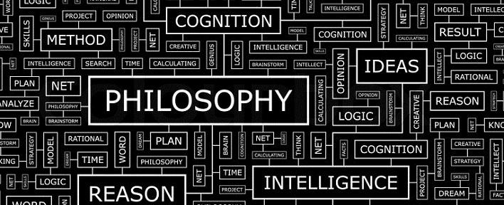 PHILOSOPHY. Seamless pattern. Word cloud illustration, vector