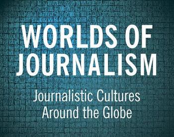 Forsiden på boka Worls of Journalism