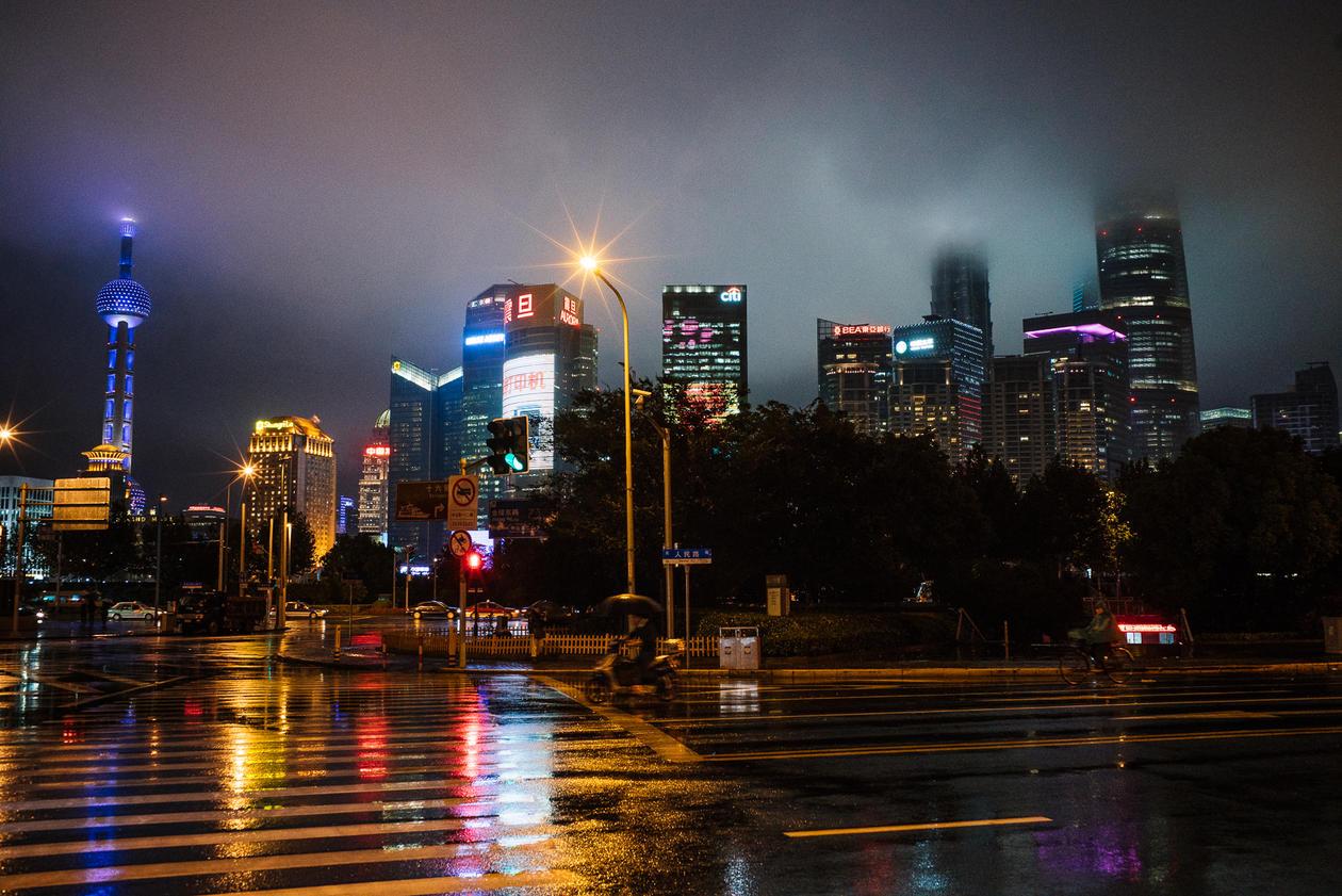 Beijing i regn