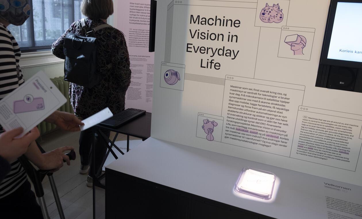 Fra utstillingen maskinsyn.