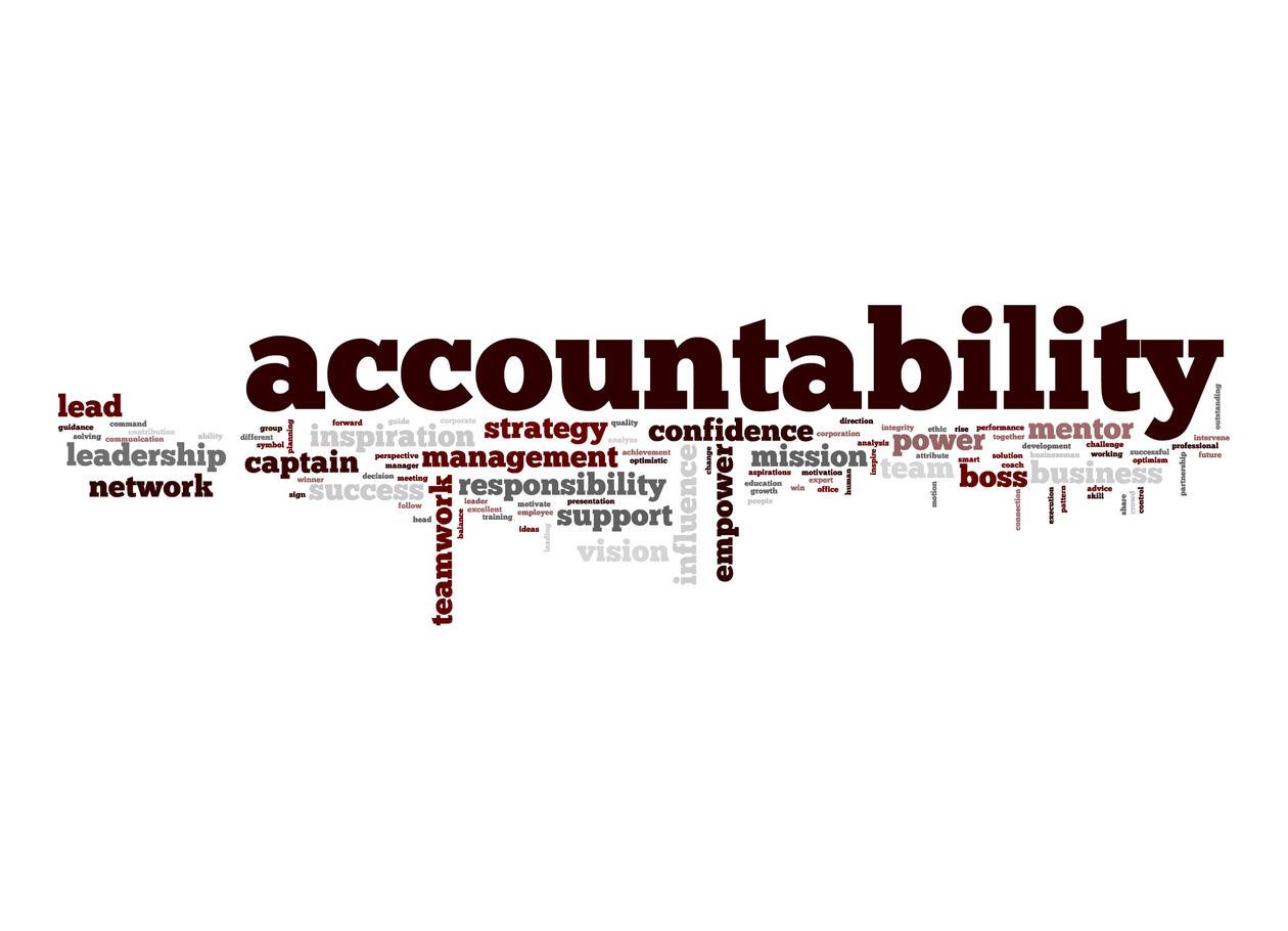 Word cloud, Accountability