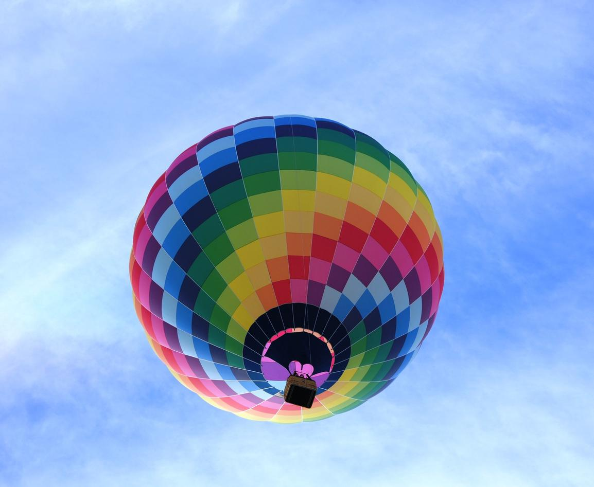 Picture of a multi-coloured balloon
