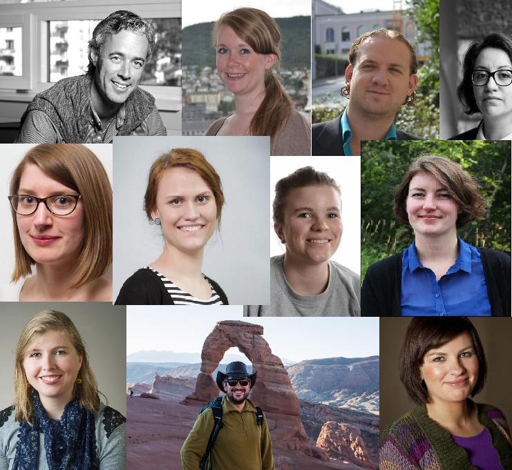 Samling av profilbilder av aktive ph.d.-kandidater