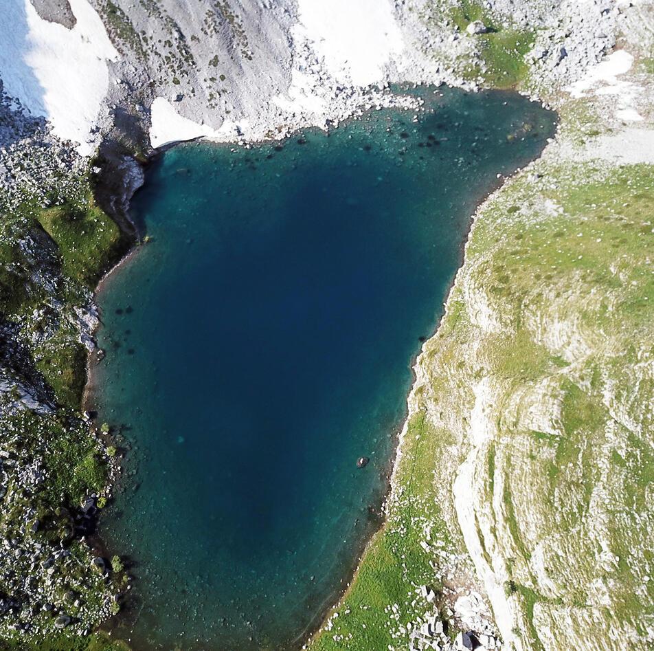 Albania Lake drone