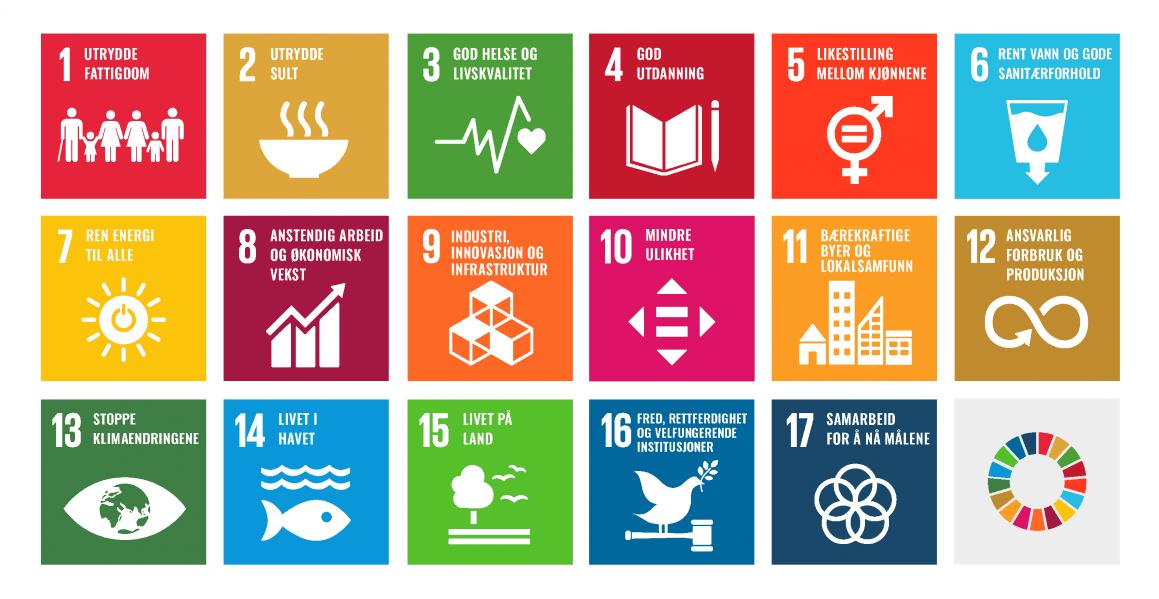 FNs bærekraftsmål, alle ikoner