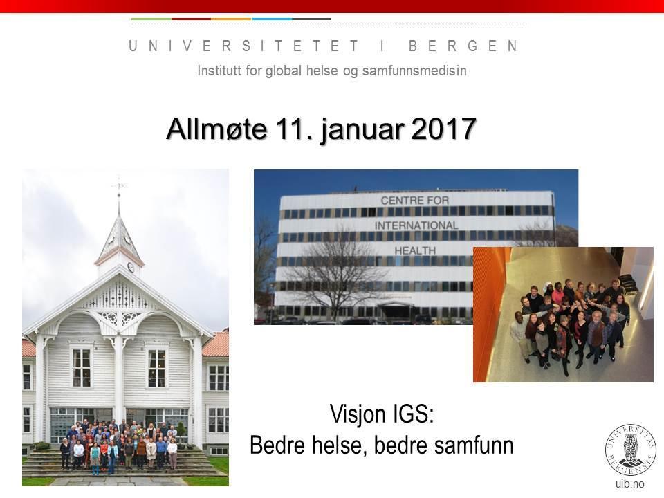 Open meeting IGS