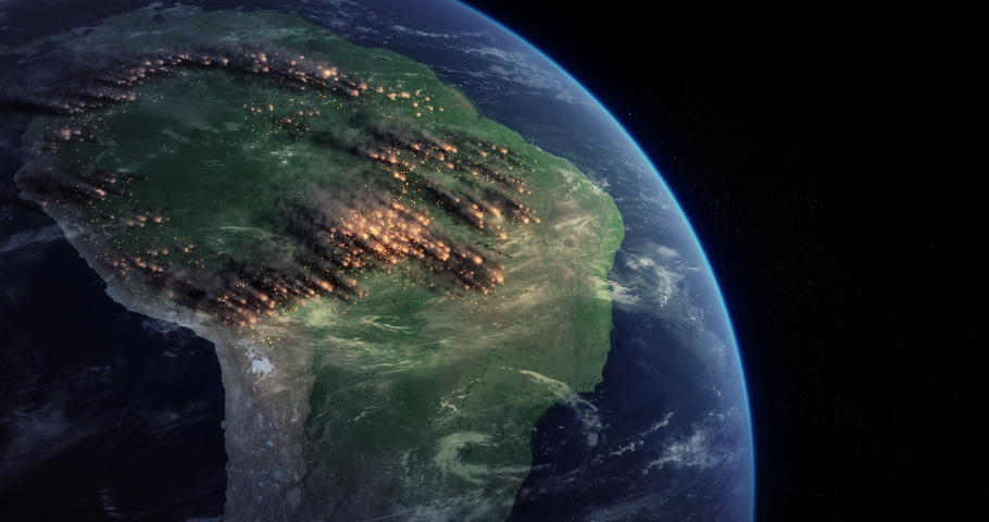 Amazon rainforest from space