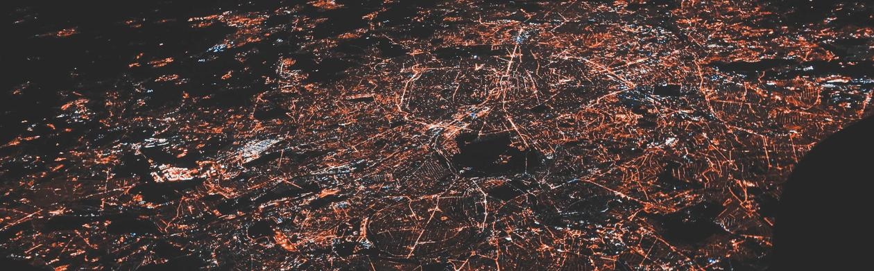 City lights seen from above