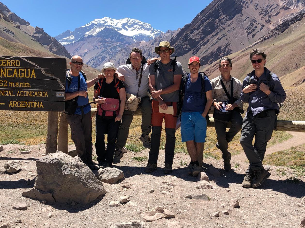 Feltgruppen foran Andesfjellene