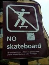No skateboarding
