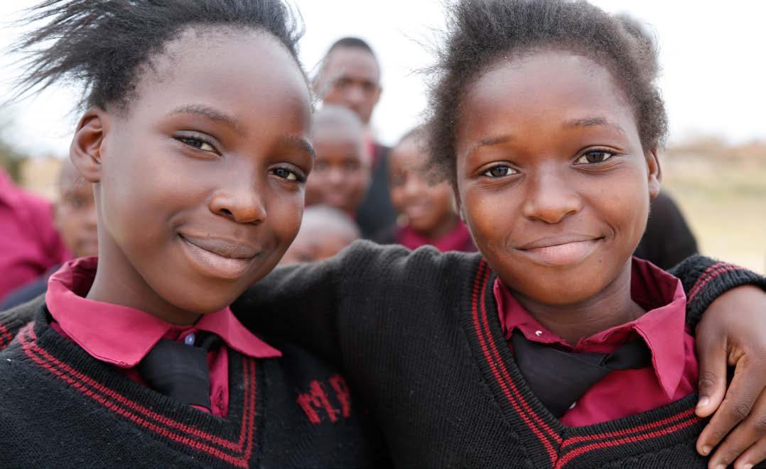 School girls in Zambia