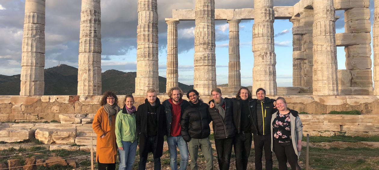 Students on NIA sponsored course in Greece