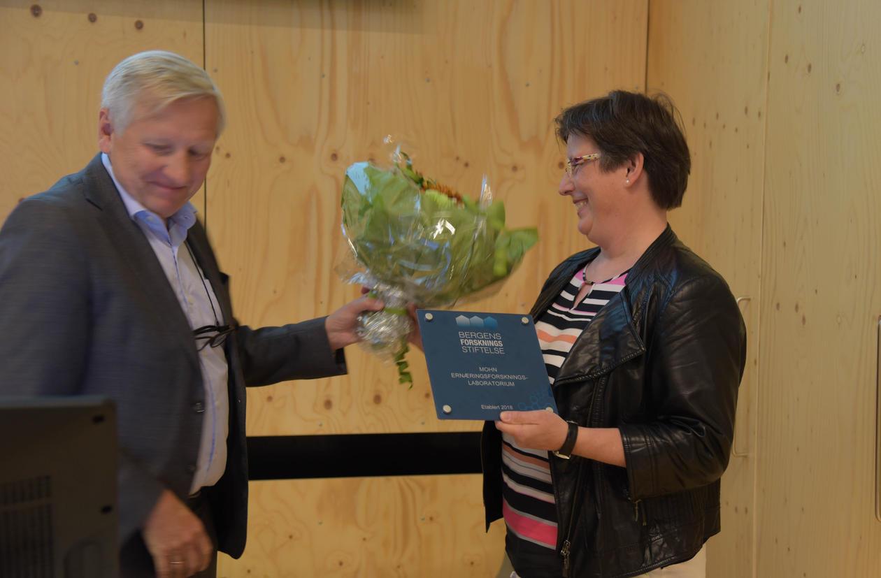Jutta Dierkes og Sveinung Hole åpning ernæringsforskningslab