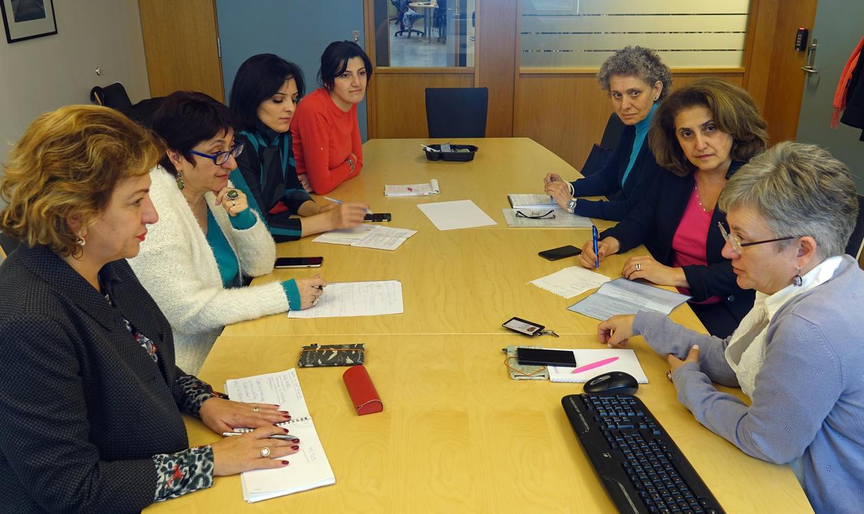 Prosjektleder Ane Landøy vertskap for en studietur fra Jerevan,