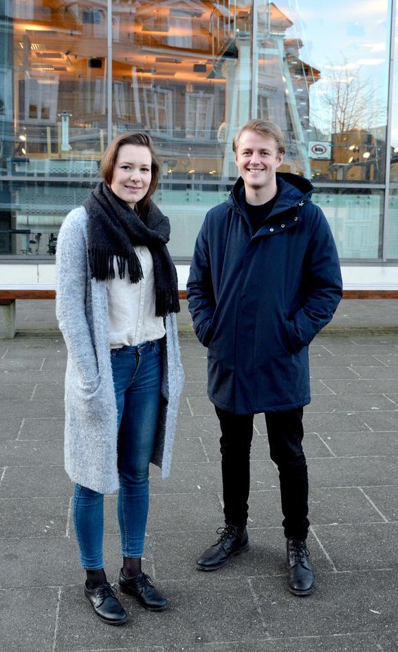 Natalie Johnsen og Haakon Randgaard Mikalsen i Studentparlamentets arbeidsutval