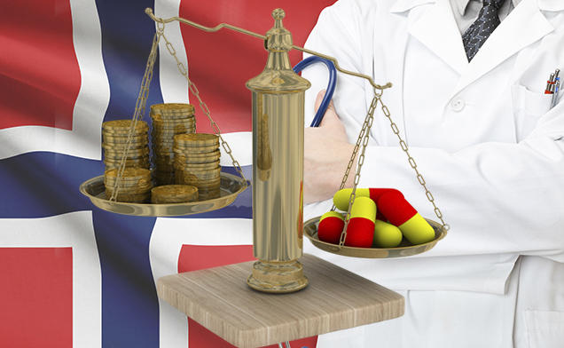 A scale weighing money versus medical therapy.