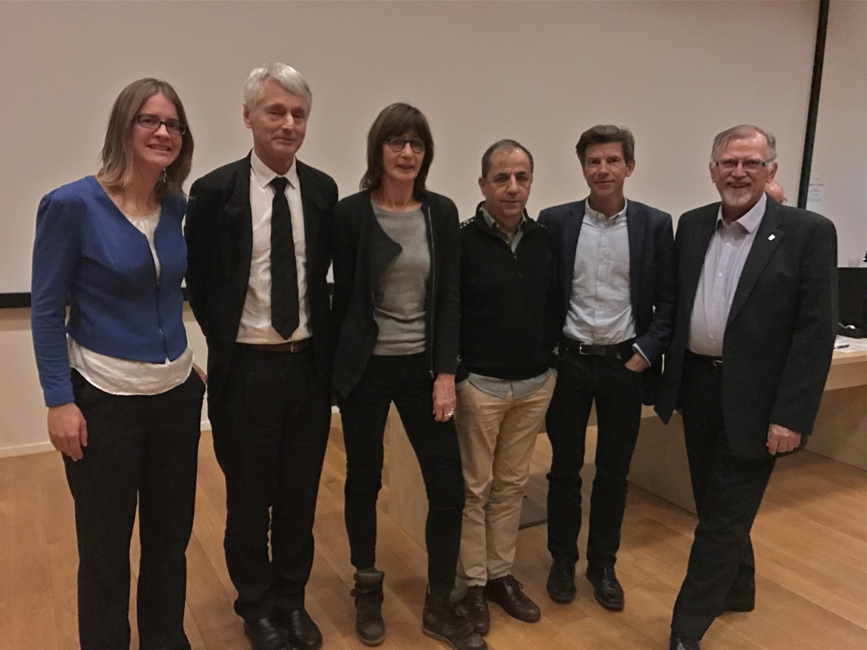 Frede with seminar speakers.