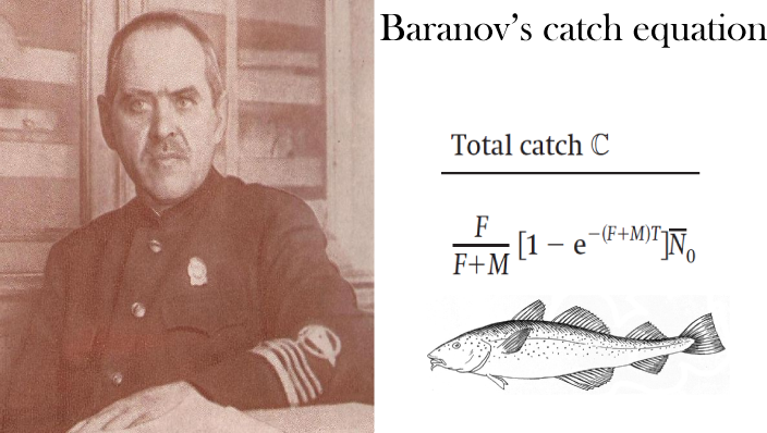 Portrait of Fedor Baranov and his catch equation
