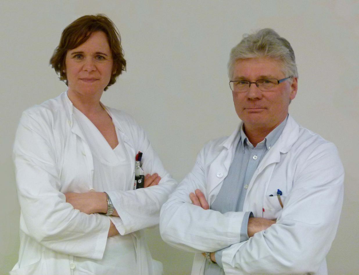 Photo of Leaders og Bergen Abdominal Research Group (AIRG): Ingfrid Haldorsen and Jarle Rørvik.