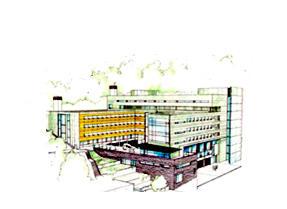 Tegning av BB bygget
