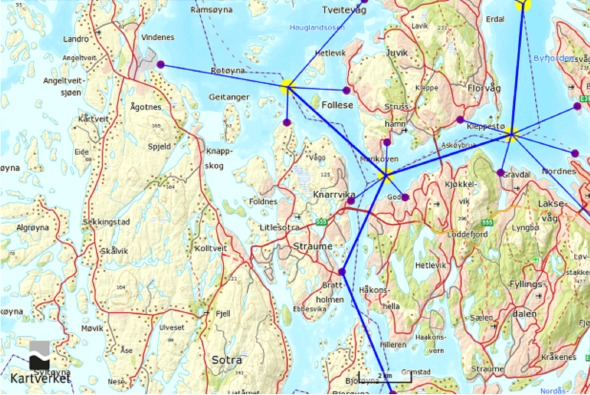 Boat network An idea for developing public marine transport around Bergen