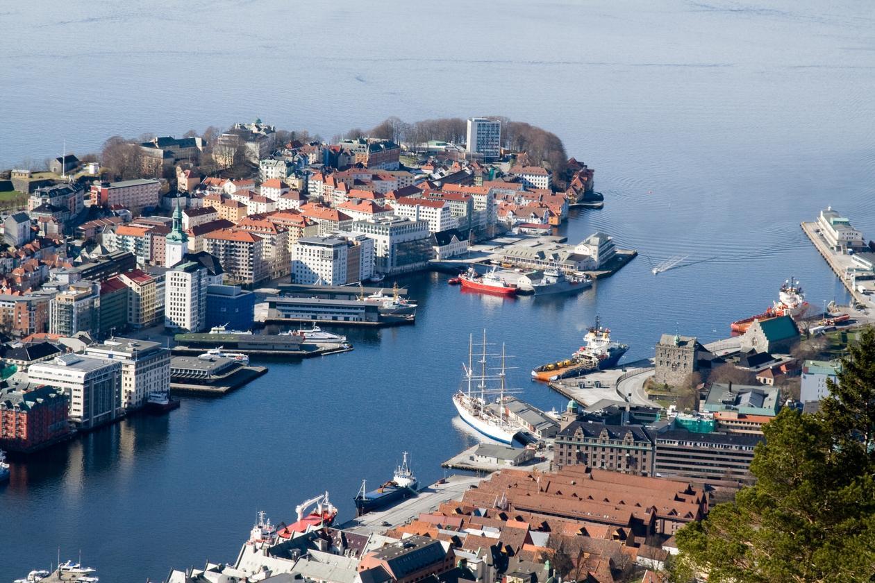 The city of Bergen, Norway