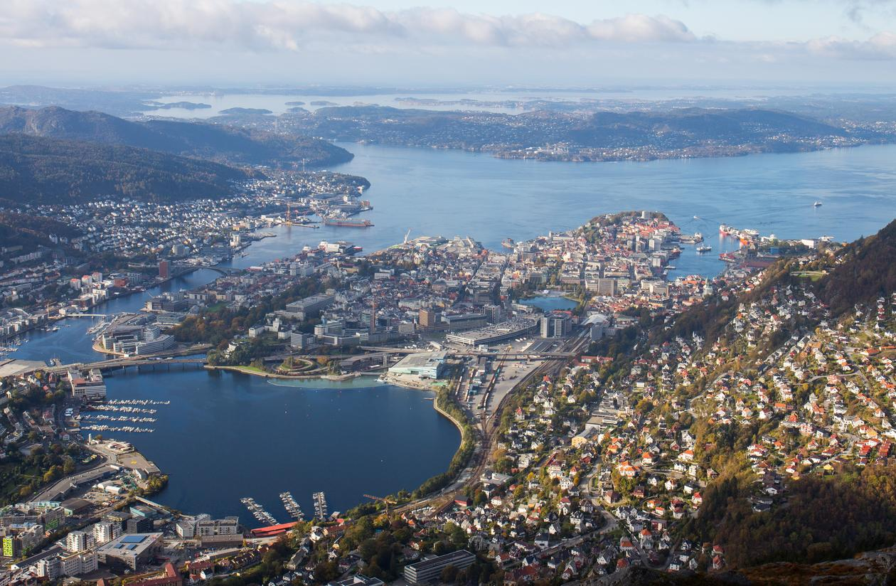 Oversiktsbilde av Bergen