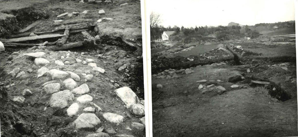 Fra RA sin utgravning på Borgund v Bernt Lange