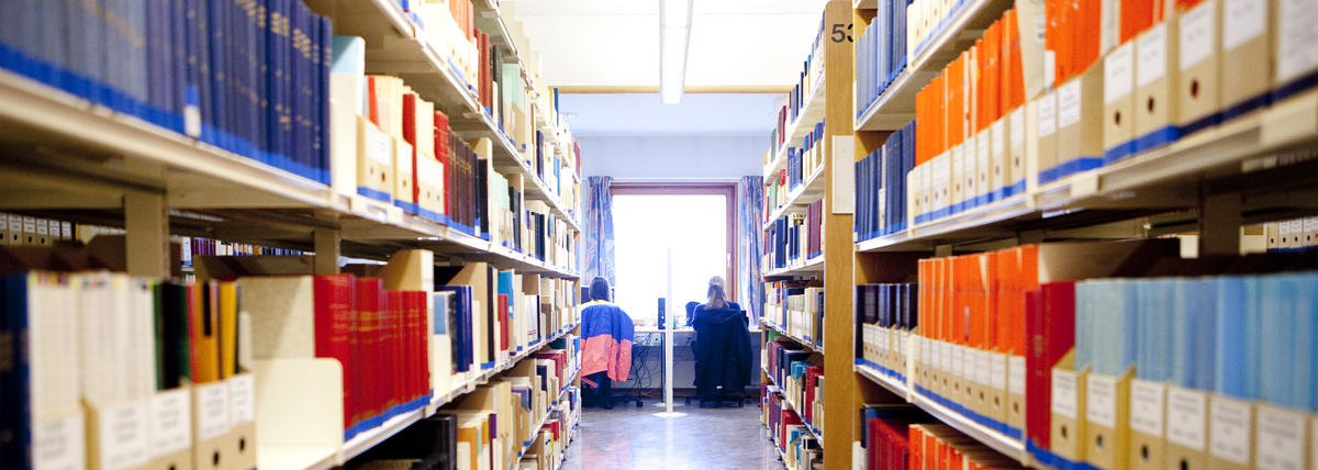 Bookshelfs at the Library