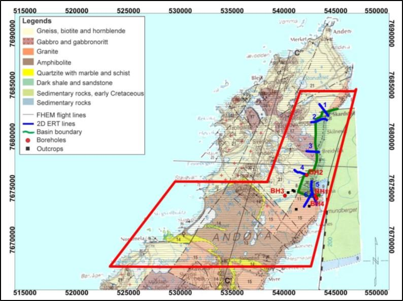 Onshore-Offshore Map