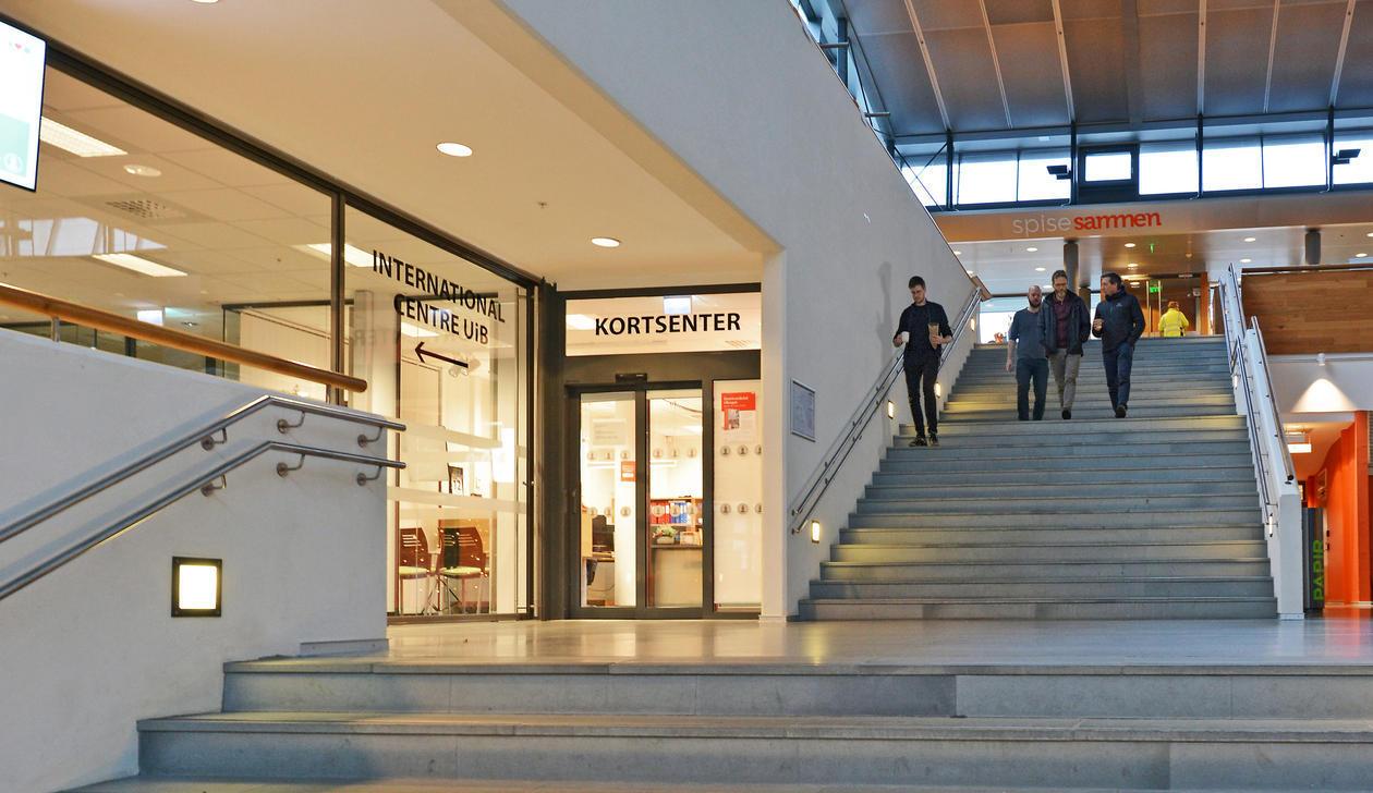 Inngangsparti til Kortsenteret på Studentsenteret