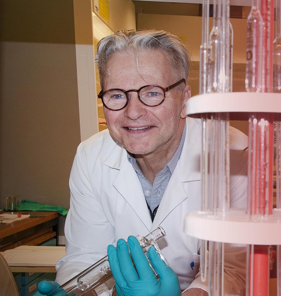 Professor Lauritzen sampler prøver