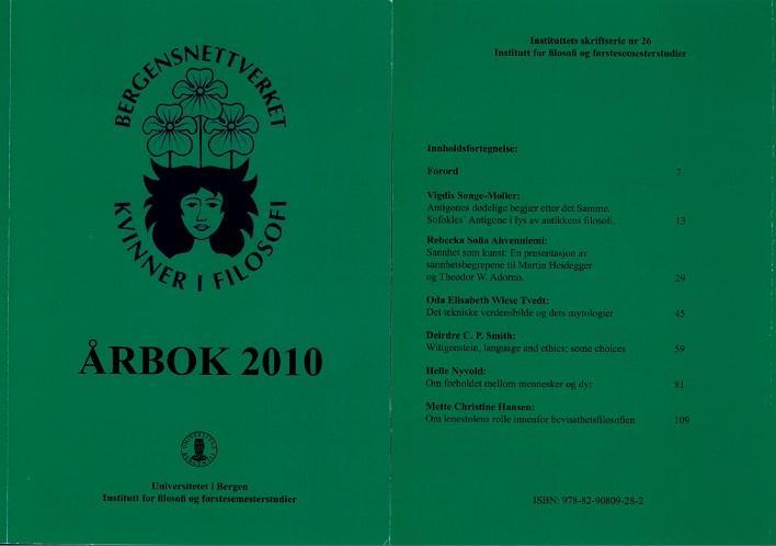 Bilde av omslaget til bnkfs årbok for 2010