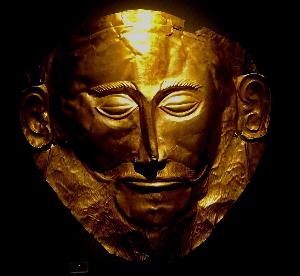 Bilde av en gullmaske