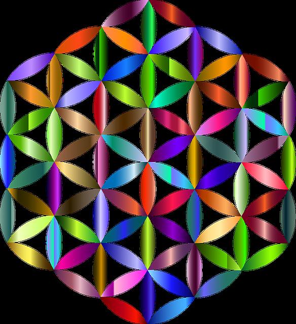 Many coloured flower