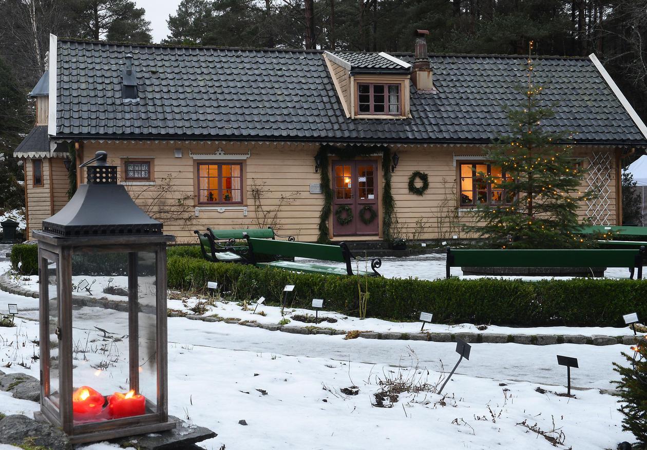 Julepyntet blondehus