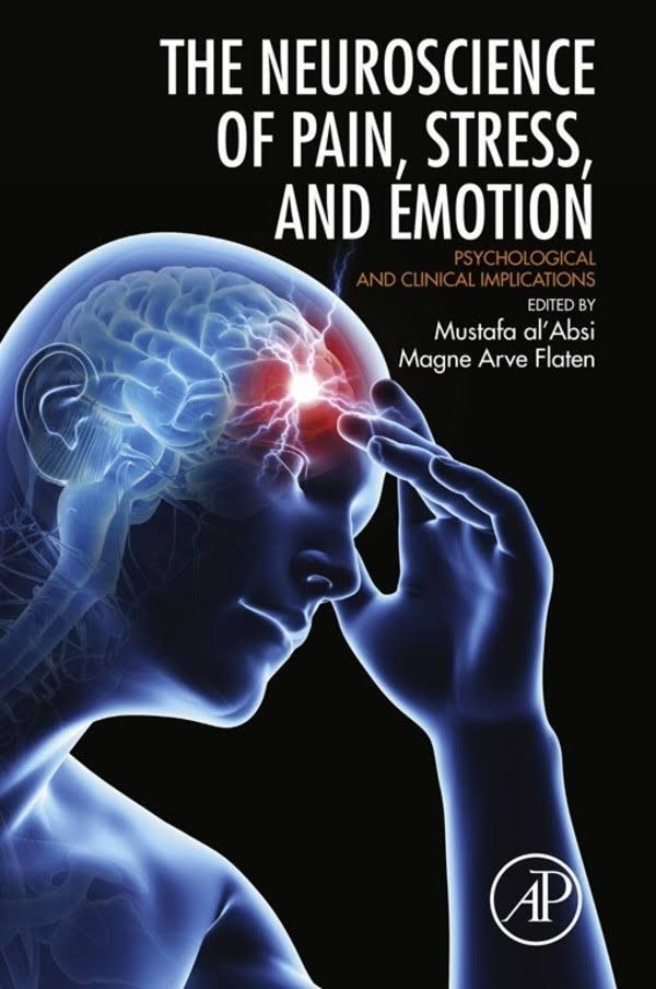 """Forside av boken """" the neuroscience of pain, stress and emotion"""""""
