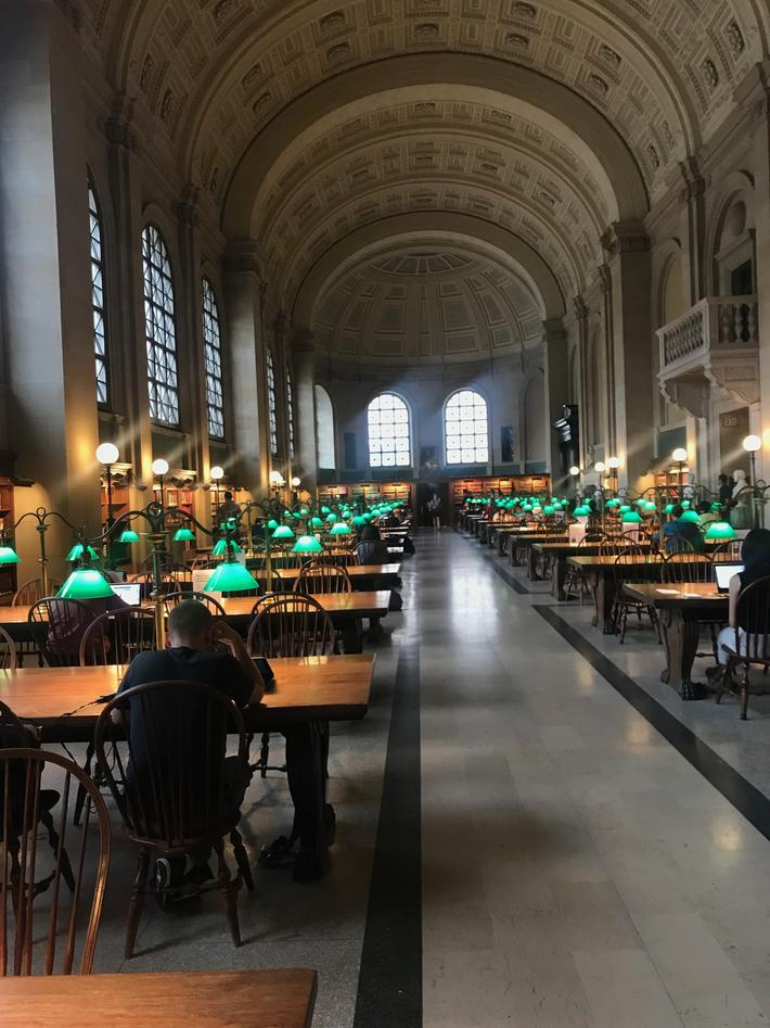 photo of inside Boston public library