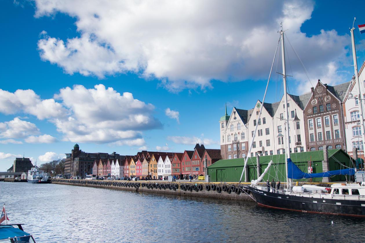 Picture of bryggen in Bergen